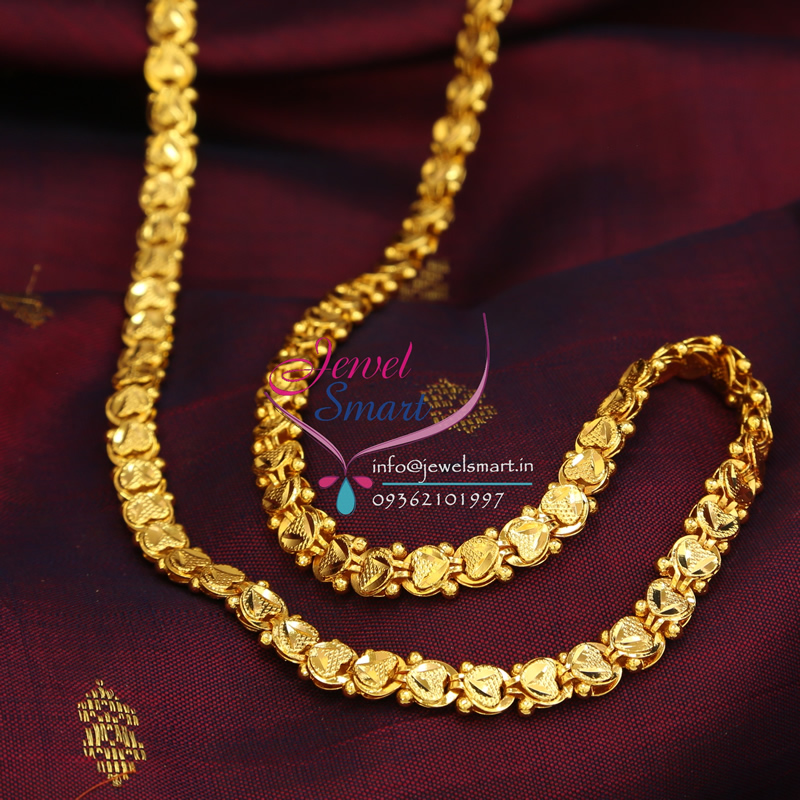 C0142 Gold Plated Chain 24 Inches Height Party and Daily Wear ...