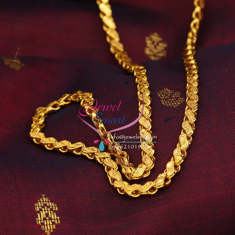 C0143 Gold Plated Chain 24 Inches Height Party and Daily Wear ...