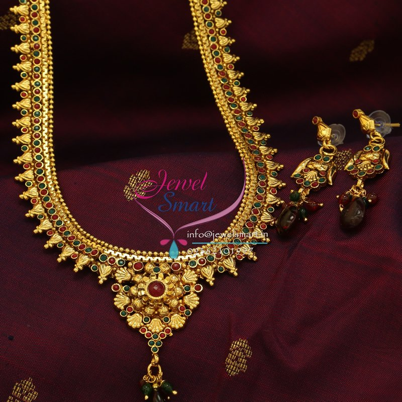 indian traditional imitation jewelry antique gold plated