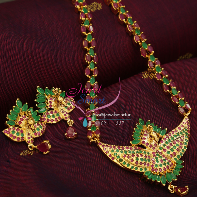 Jewellery India Online Shop Indian Gold Plated Necklace Sets: Indian Traditional Fashion Jewelry Gold Plated Ruby