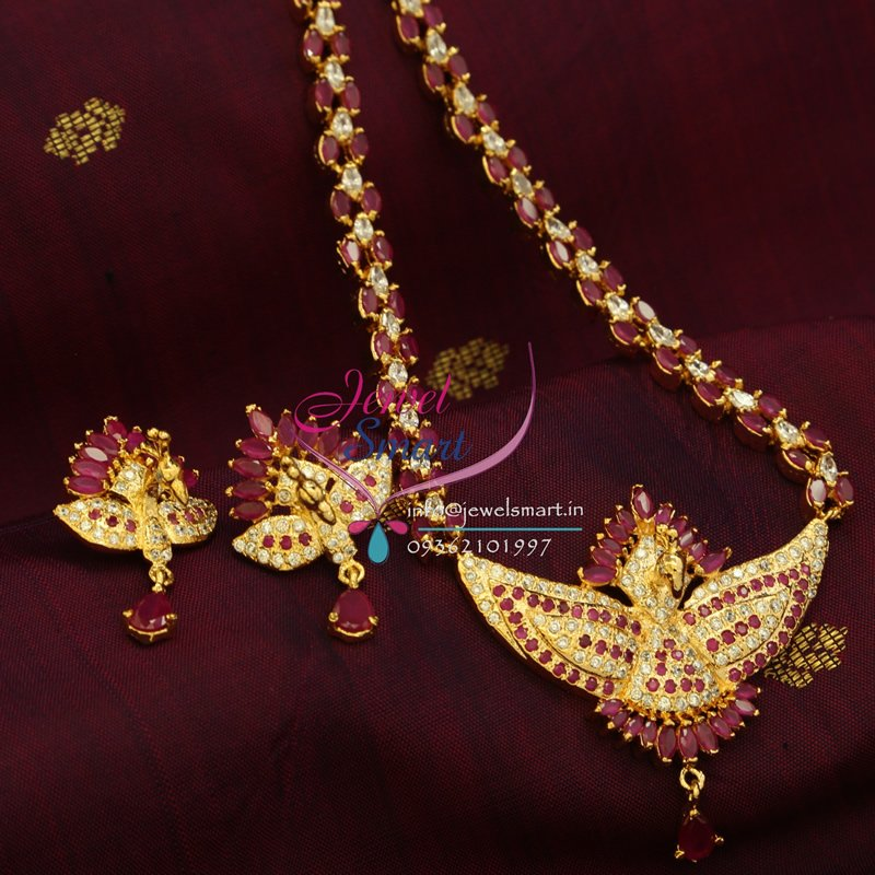 Jewellery India Online Shop Indian Gold Plated Necklace Sets: Indian Traditional Fashion Jewelry Gold Plated Ruby White