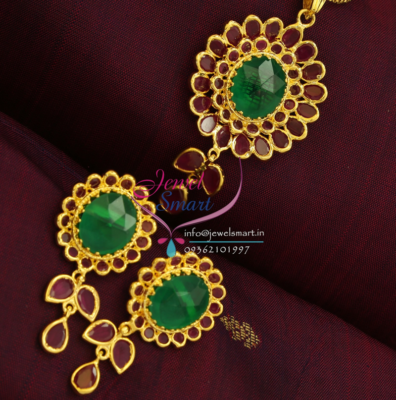 Indian Traditional Imitation Temple Fashion Jewellery Ruby ...