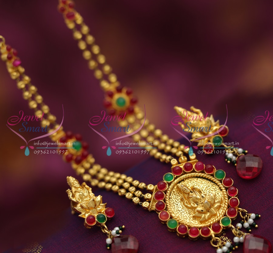 1 Gram Beads: TNL0289 One Gram Gold Plated Temple Jewellery Beaded