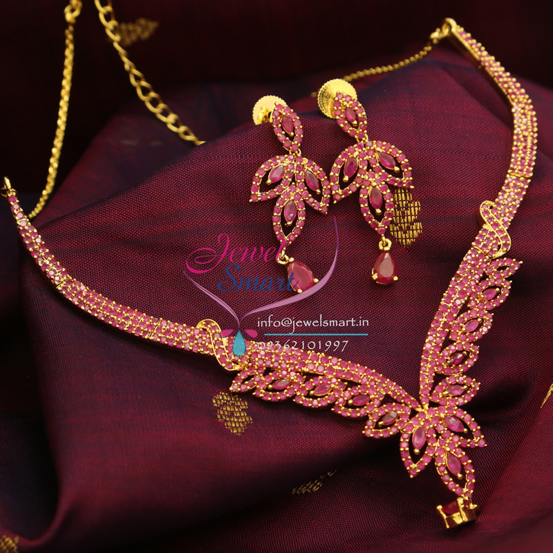 Indian Traditional Gold Plated Fashion Jewellery Ruby