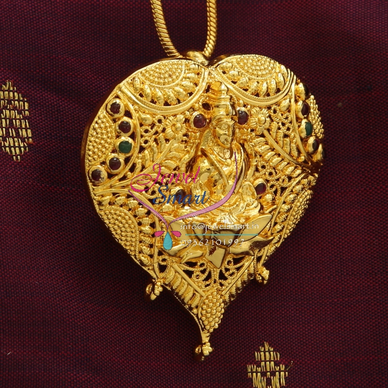 Indian Traditional Fashion Jewelry Temple Imitation Pendant Earrings Gold Designs Online Shopping 12 on p0488