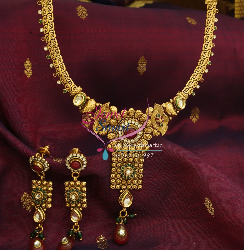 sc 1 st  JewelSmart & ANL0532 Antique Gold Plated Necklace Synthetic Kundan Fashion Jewellery