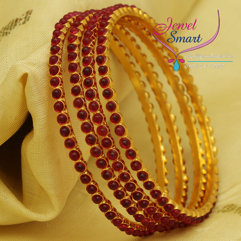 b0701m 26 size kemp temple stones bangles gold plated