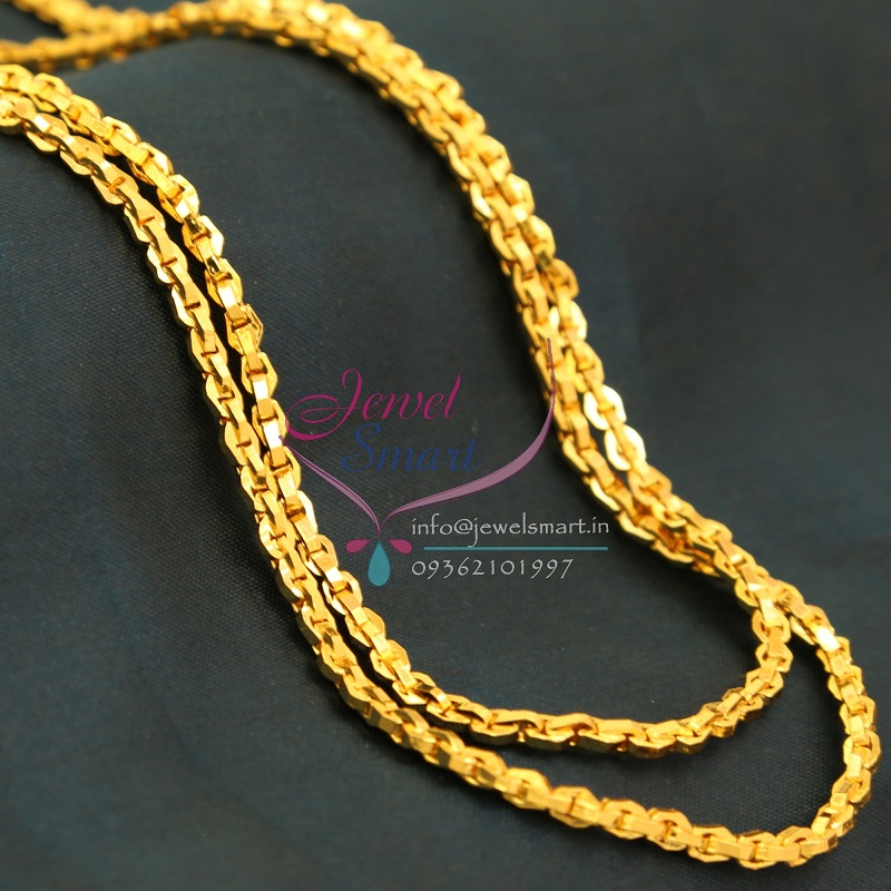 C0748 Traditional Gold Plated Thin Chain 30 Inches 2 MM Thickness