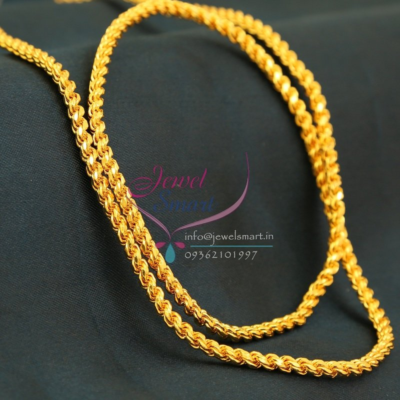 C0752 traditional gold plated chain 30 inches 3 mm thickness for Best mens jewelry sites