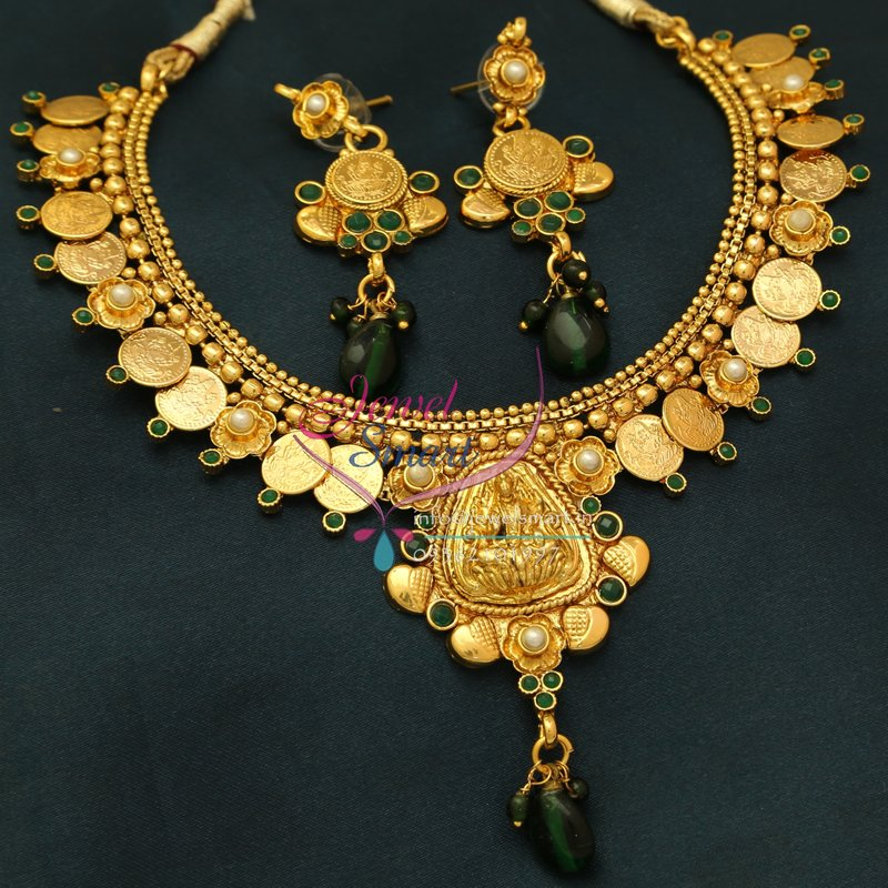 Nl0767 Indian Traditional Temple Jewellery Gold Plated