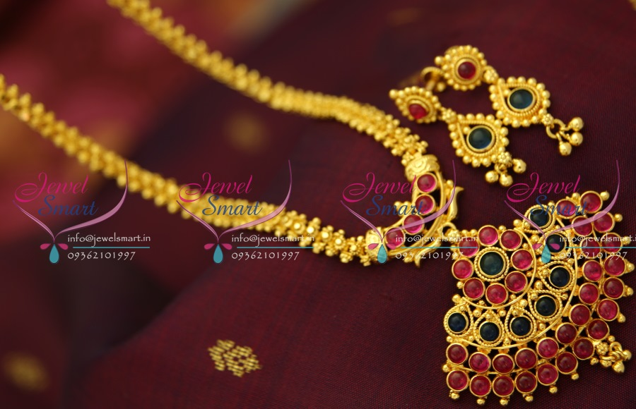 TNL0767 Indian Traditional Gold Design Quality Temple Mango Design