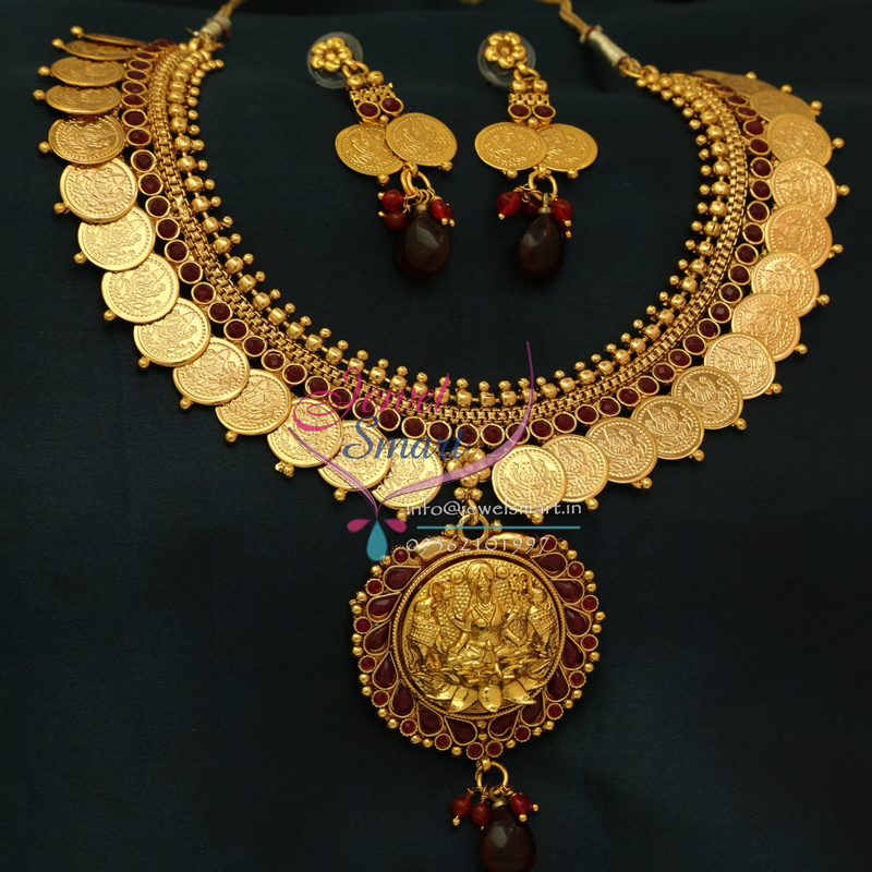 Nl0776 Indian Traditional Temple Jewellery Gold Plated