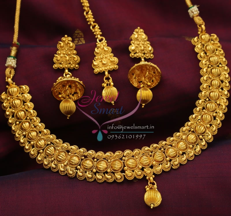 Gold Plated Silver Antique Beads: NL0791 Beads Design Antique Gold Plated Jewellery Online