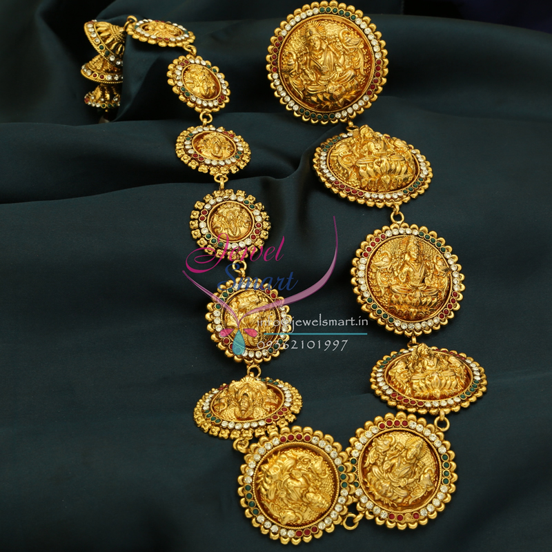 H0796 Traditional Indian Wedding Hair Jewelry Gold Plated Antique Laxmi Choti & H0796 Traditional Indian Wedding Hair Jewelry Gold Plated Antique ...