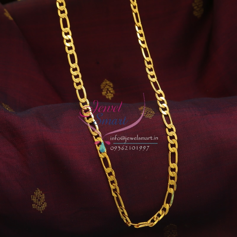 C0866 18 Inches Gold Plated Fancy Design Short Chain Daily Wear 6 ...