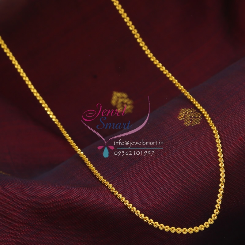 C0881 18 Inches Gold Plated Fancy Design Short Chain Daily Wear 6 ...