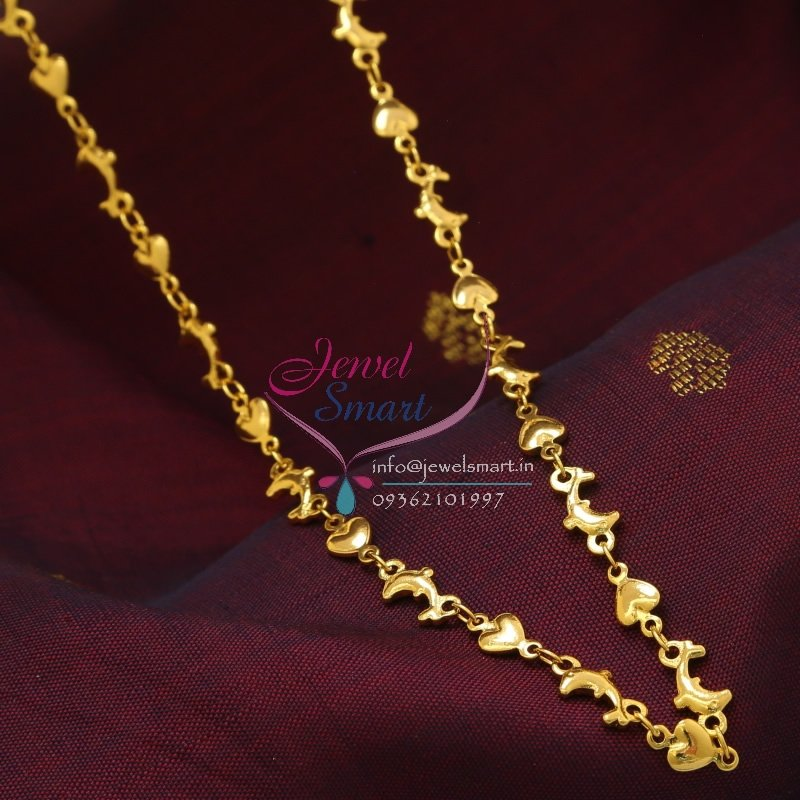 C0883 18 Inches Gold Plated Fancy Fish Design Short Chain Daily ...