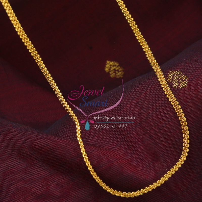 C0887 18 Inches Gold Plated Fancy Design Short Chain Daily Wear 6 ...