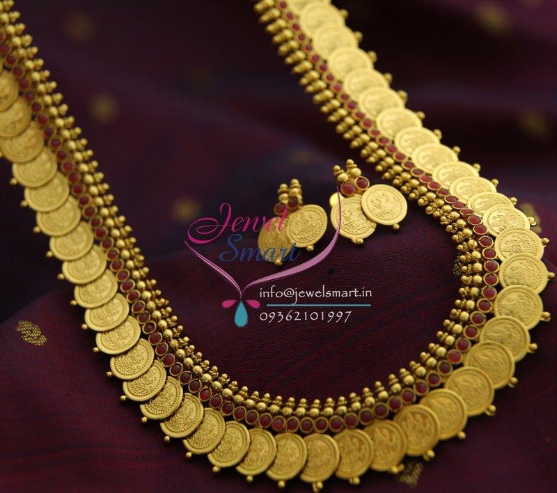 Nl1386 temple jewellery laxmi god coin long necklace haram maroon nl1386 temple jewellery laxmi god coin long necklace haram maroon indian traditional aloadofball Image collections