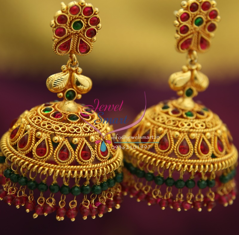 Gold Jhumka Designs With Weight And Price – images free download