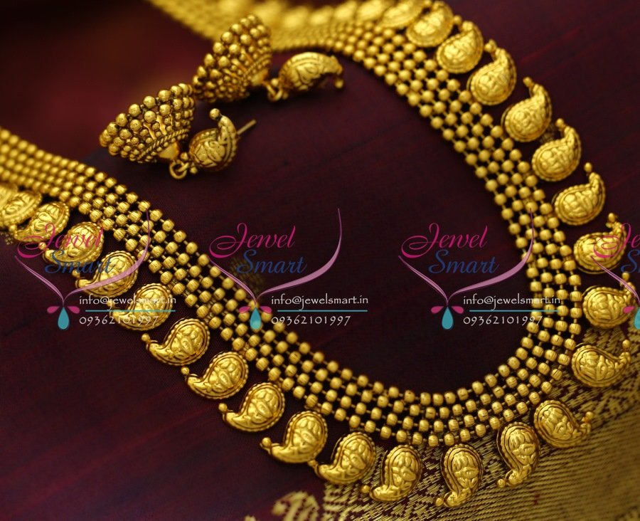 20a975bd4e944 NL1736 26 Inches Long Antique Gold Plated Mango Real Jewellery Design Haram  Traditional Online