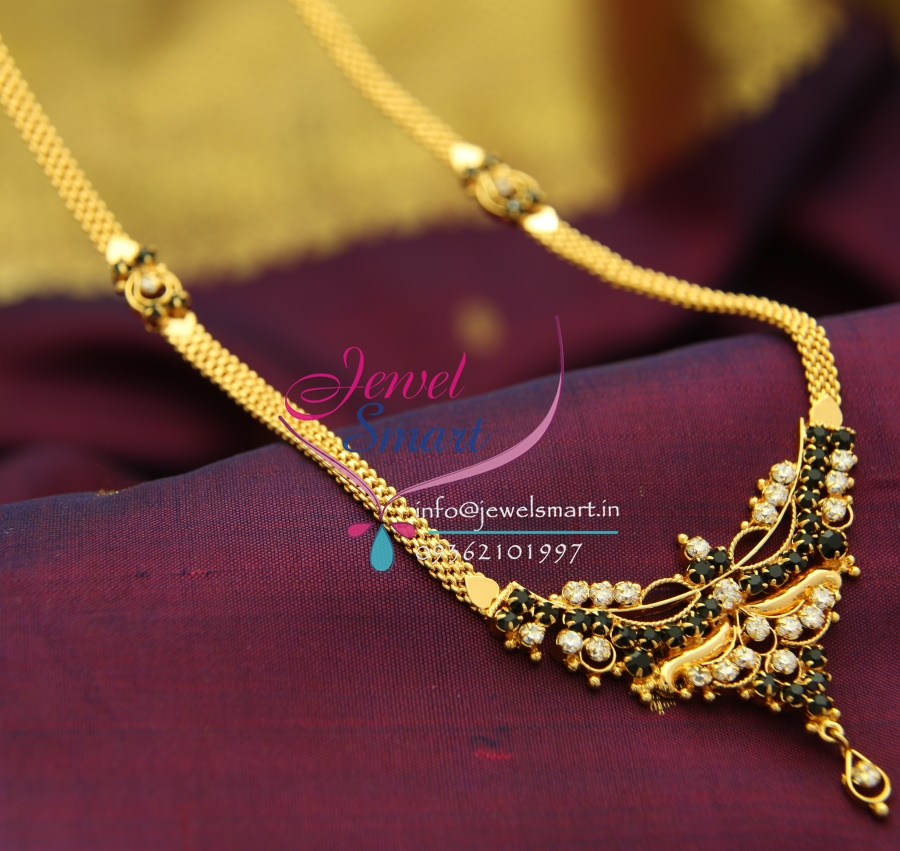 NL1742 Gold Plated South White Black Indian Traditional Jewellery ...