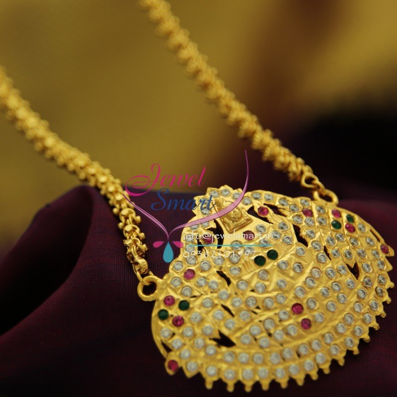 Cs1872 Gajalakshmi Pendant Chain South Indian Traditional