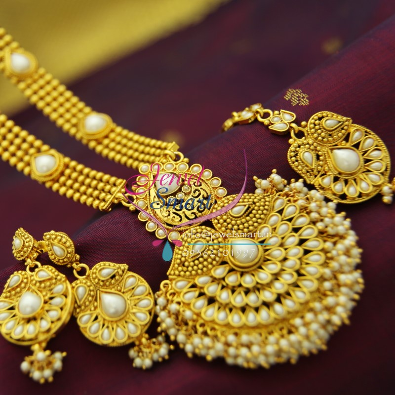 nl1947 indian traditional pearl gold imitation artificial