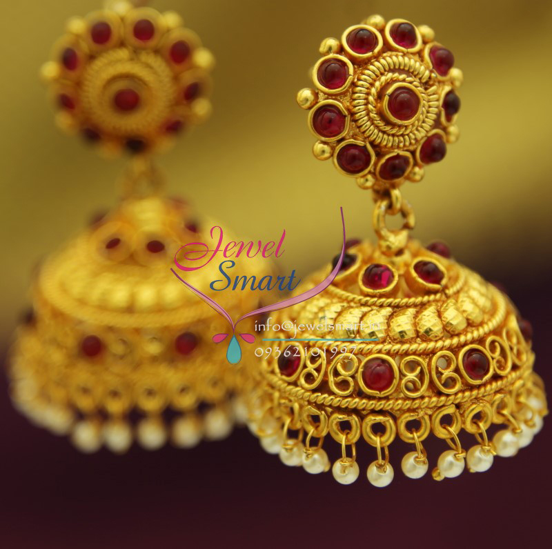 Er0814 Kemp Jewellery Traditional Design South Indian