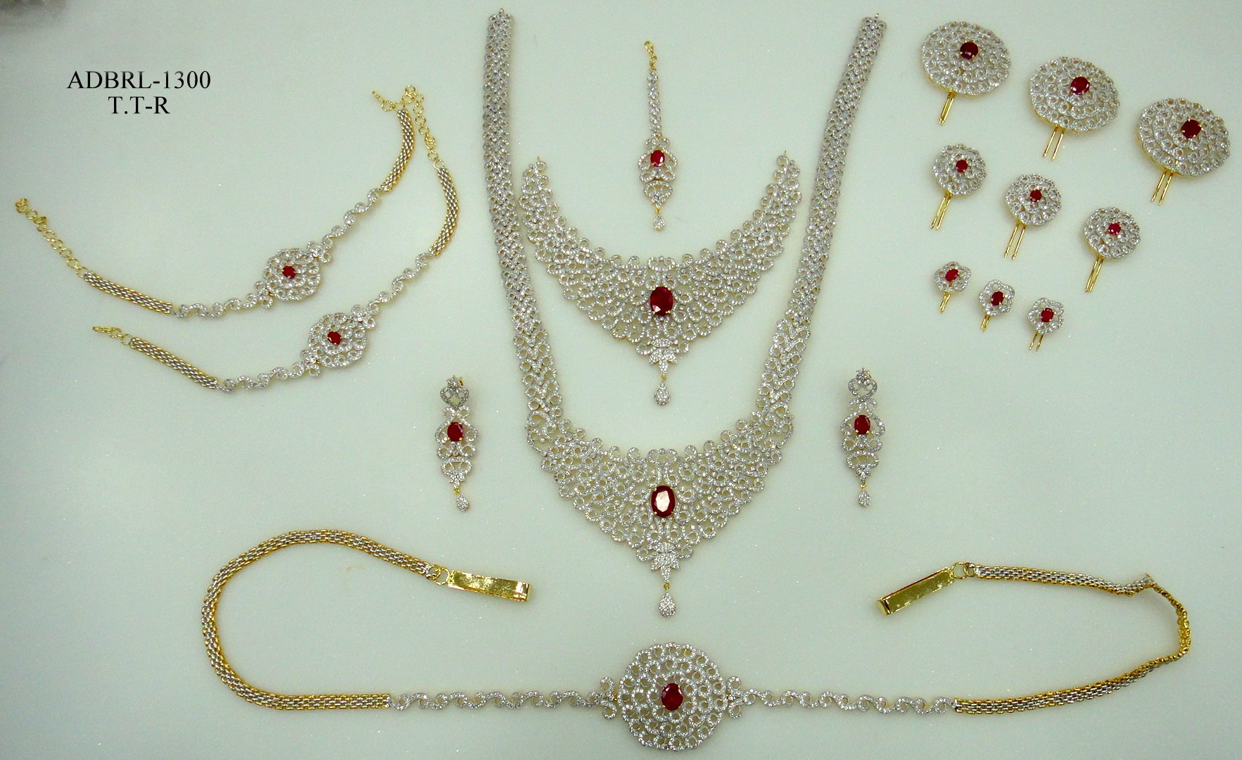 Complete bridal jewellery sets online shopping india