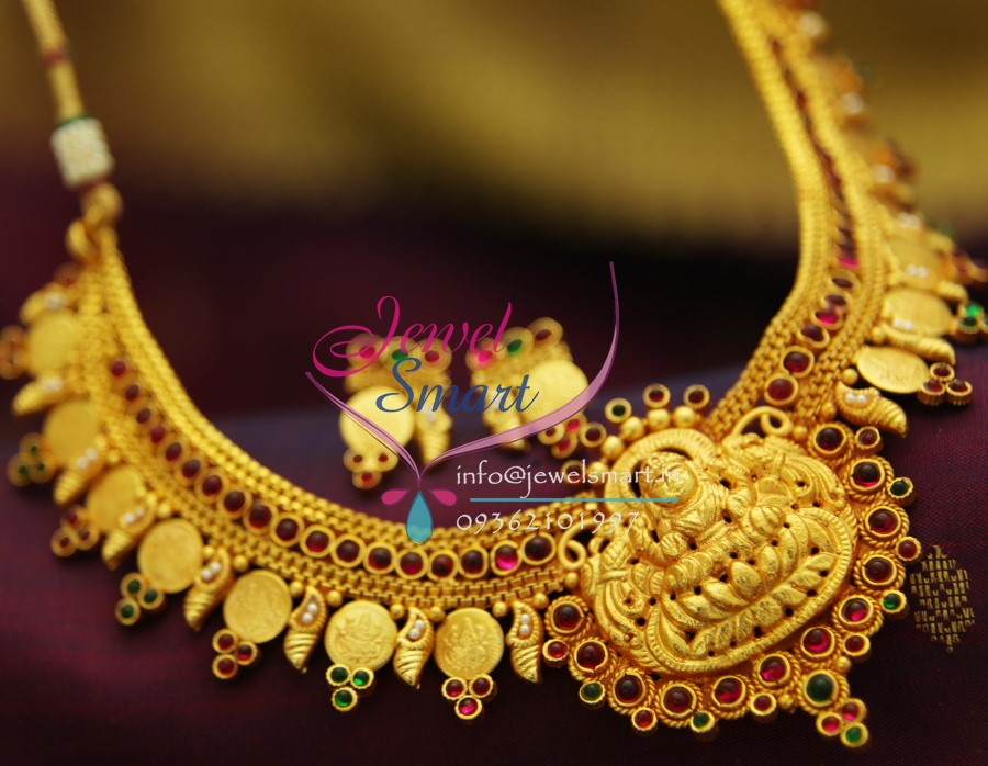 Nl2008 Yellow Gold South Indian Traditional Trendy Temple