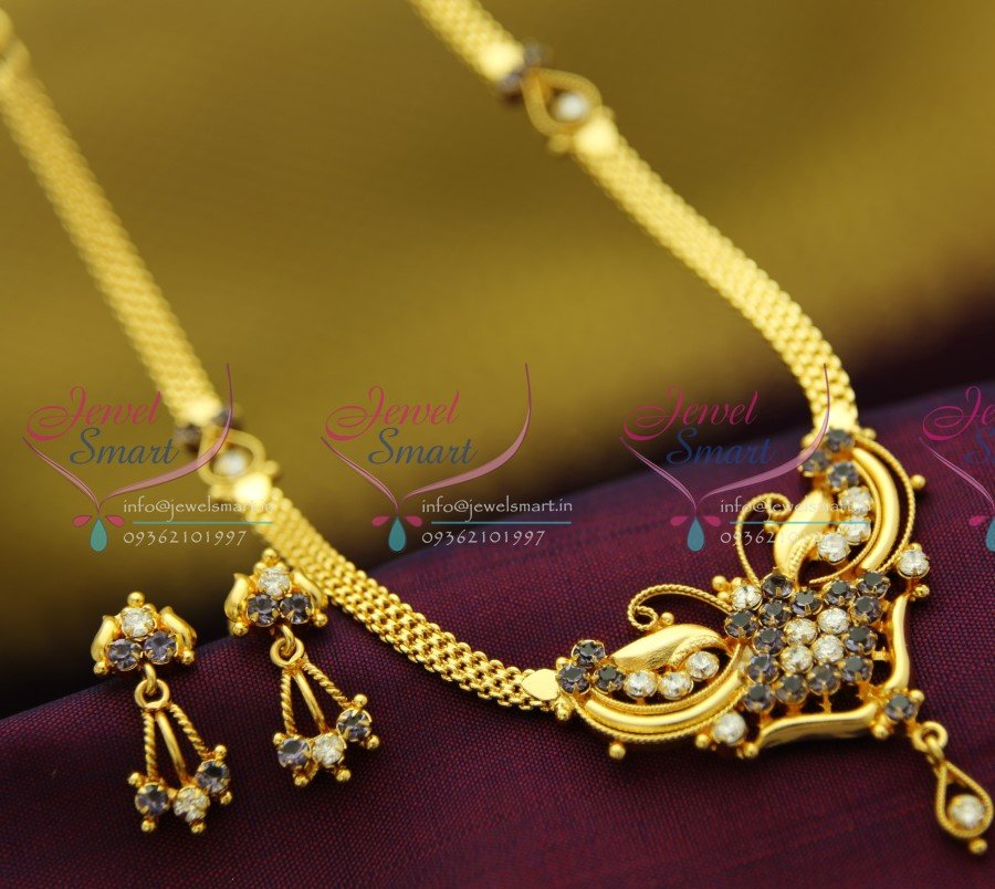 22ct Indian Gold Mangalsutra Necklace Set: NL2049 22Ct Gold Plated South Indian Traditional Jewellery