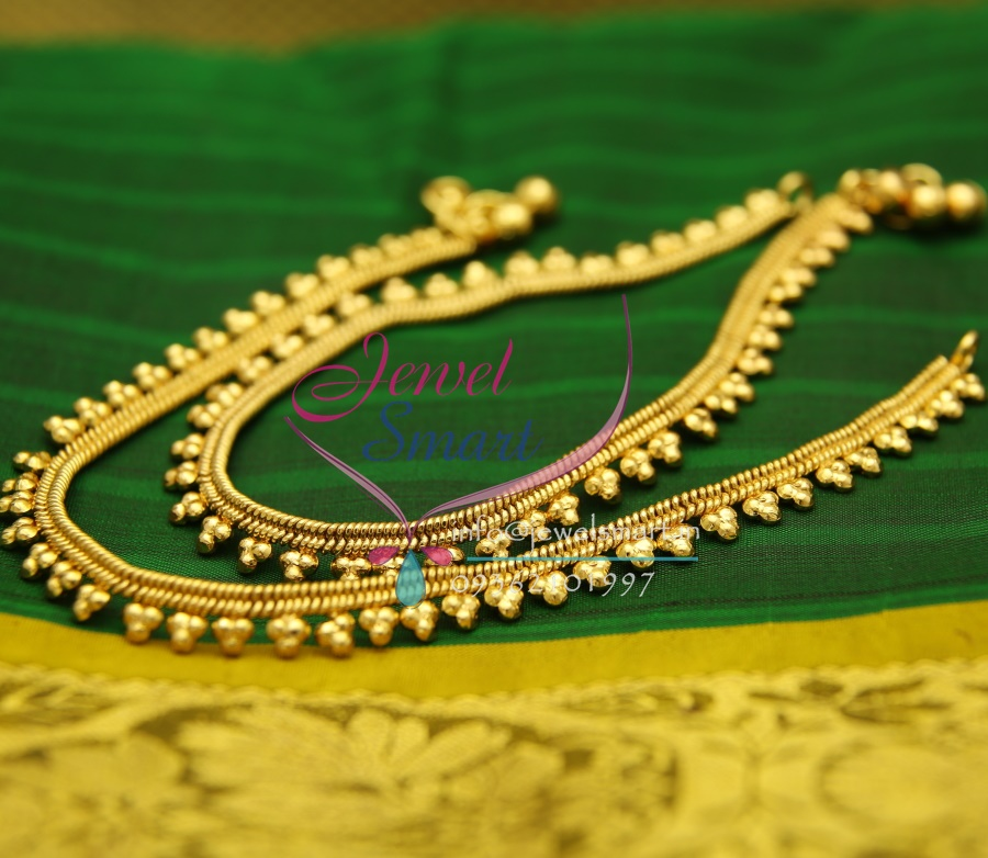 A2432 Gold Plated Fancy Design Imitation Payal Leg Chain Anklet ...