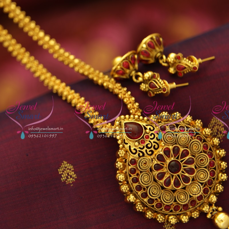 handmade chains fancy jewellery design chain gold set kemp img plated buy jhumka locket online