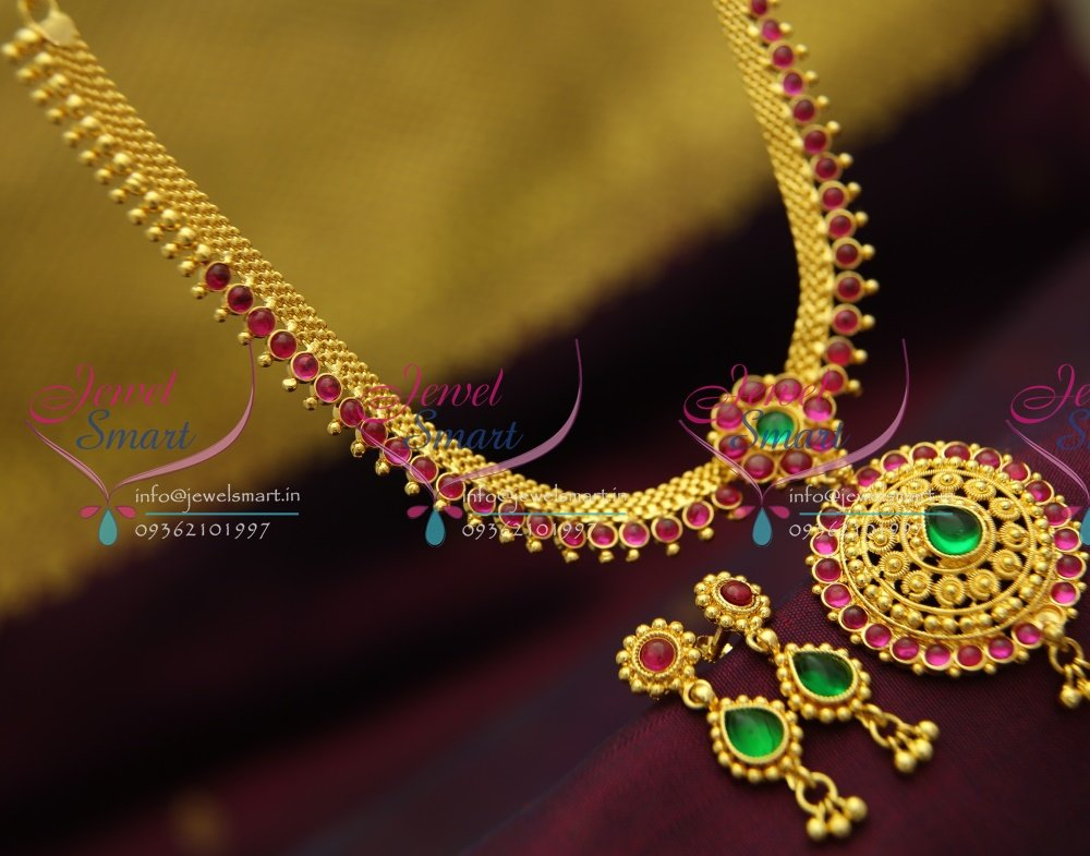 NL2870 Temple Kempu South Indian Traditional Gold Design ...