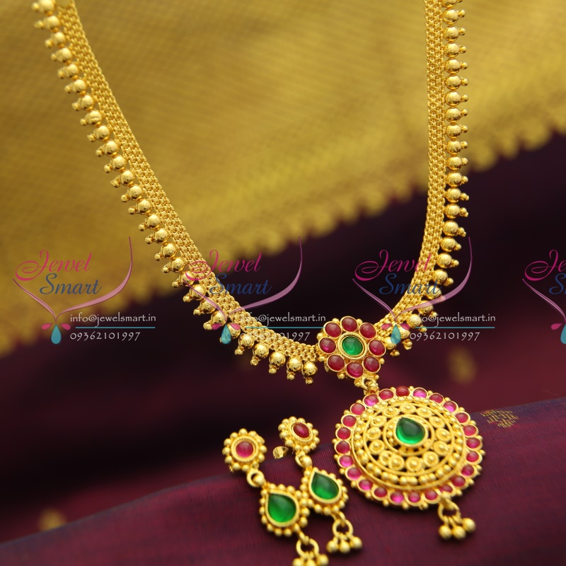 nl2883 temple kempu south indian traditional gold design