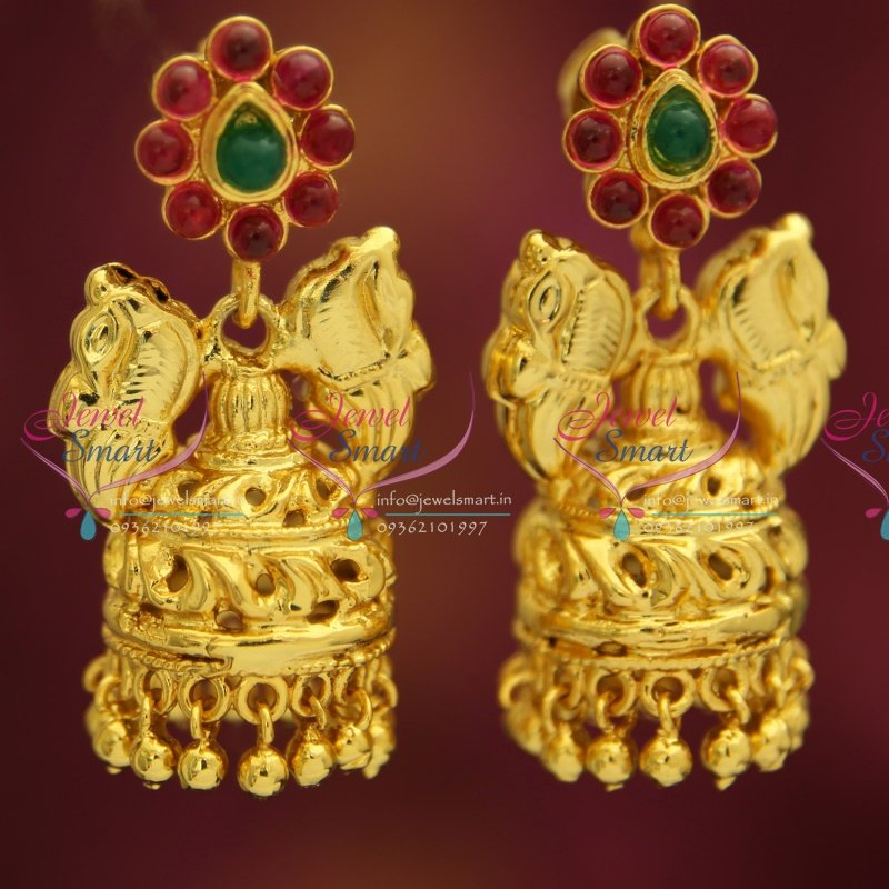 J3167 Temple Kempu Gold Design South Indian Traditional Ethnic ...