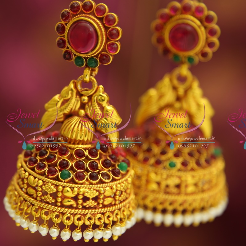 J3193 Kempu Temple Traditional South Indian Jewellery Big Broad ...