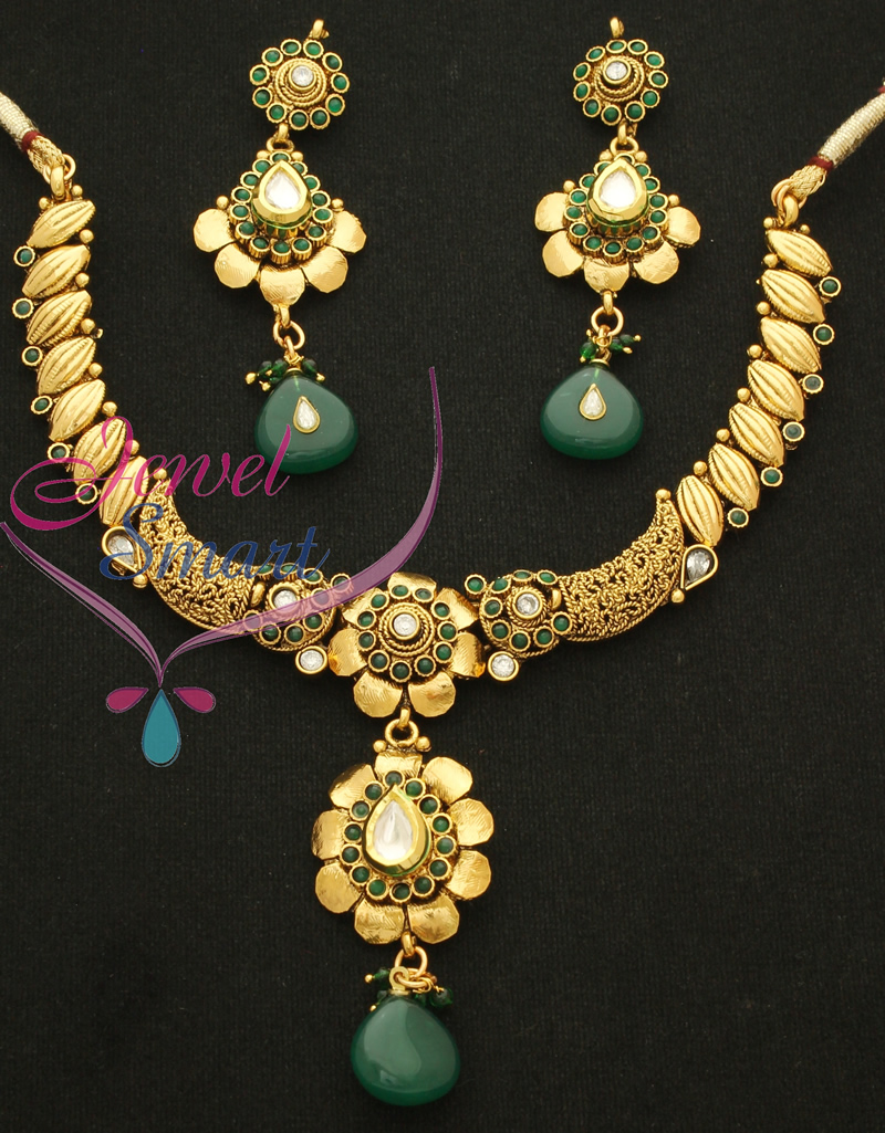 Indian Antique Gold Necklace Sets Antique Necklace Set Gold