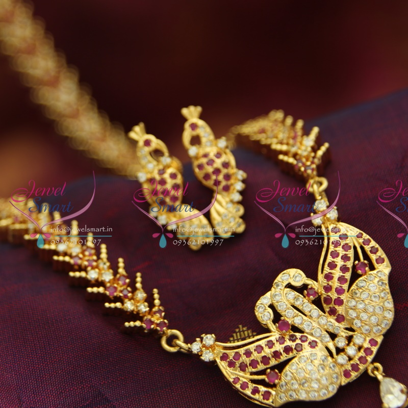 L3753 22ct Gold Plated Haram Long Necklace And Ear Rings
