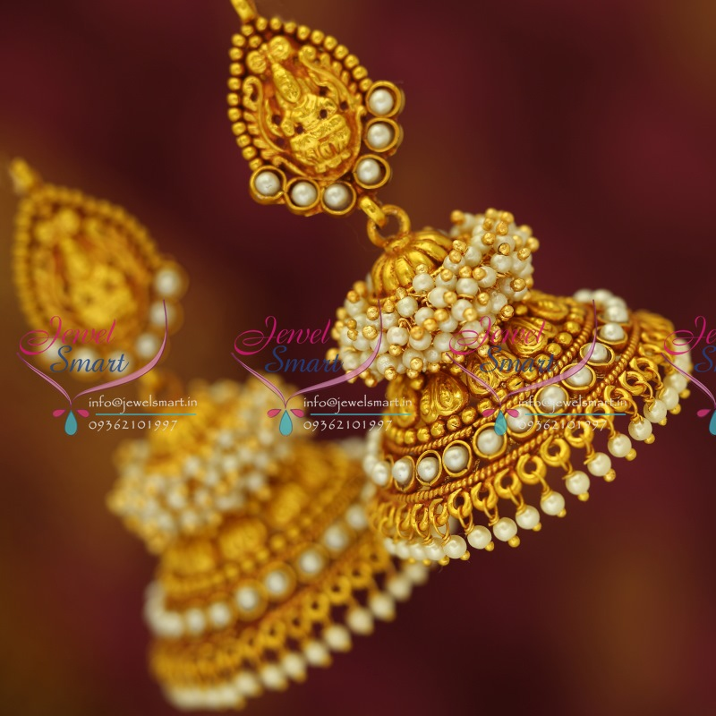 J3430 Temple Laxmi Indian Jewellery God Design Red Gold