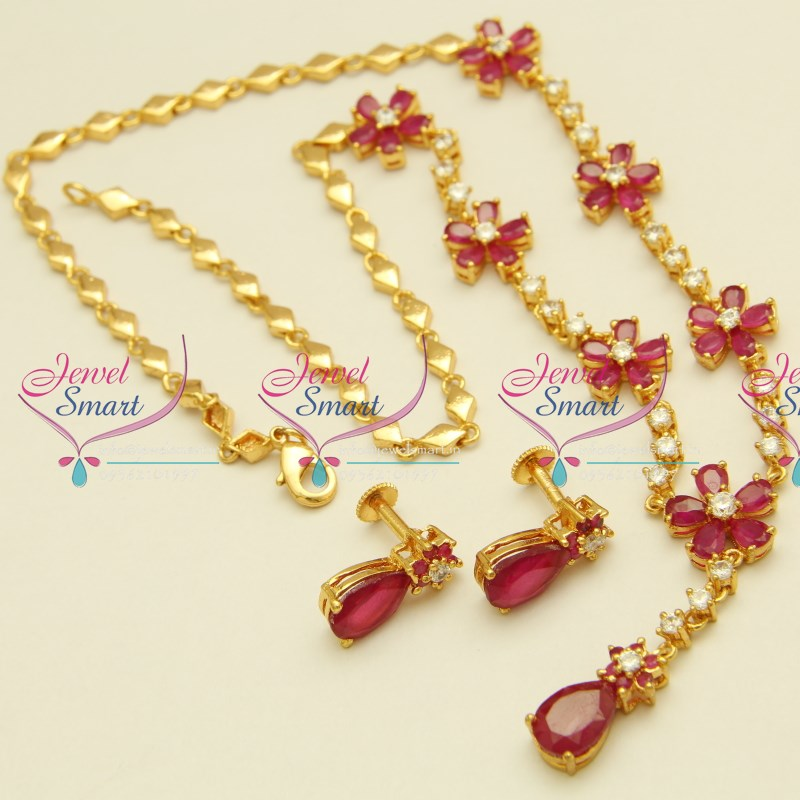 Nl1679 ruby floral design jewellery semi precious stones for Where to buy jewelry online