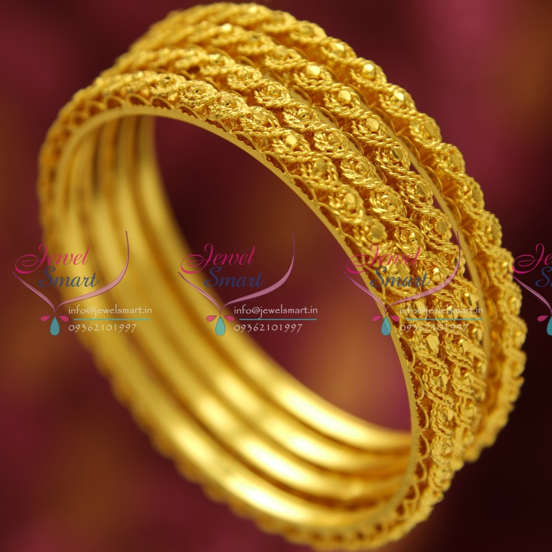 thick on flower bangles jewelry products bangle bangl gold deco wide wanelo bracelet filled yellow shop antique vintage best hinged art