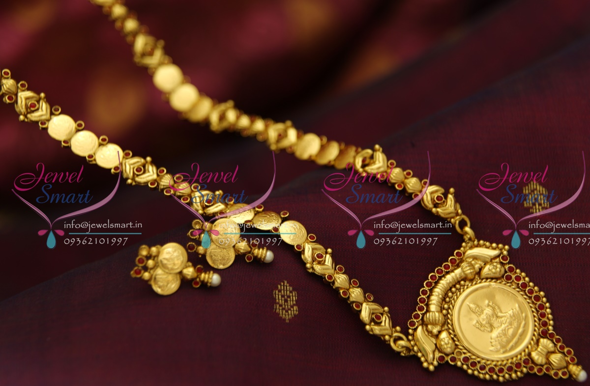 NL3965 Indian Traditional Temple Jewellery Antique Gold Plated Laxmi Haram  Simple Elegant Lowest Online Price