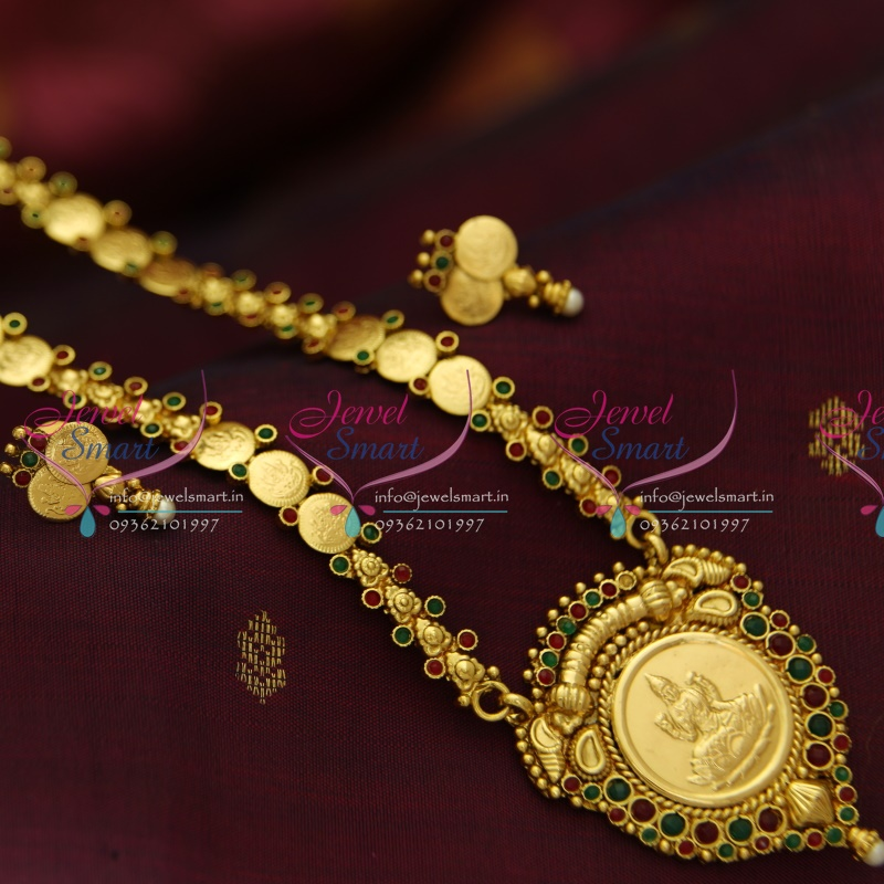 dab2b9f8bf3 NL3970 Indian Traditional Temple Jewellery Antique Gold Plated Laxmi Haram  Simple Elegant Lowest Online Price