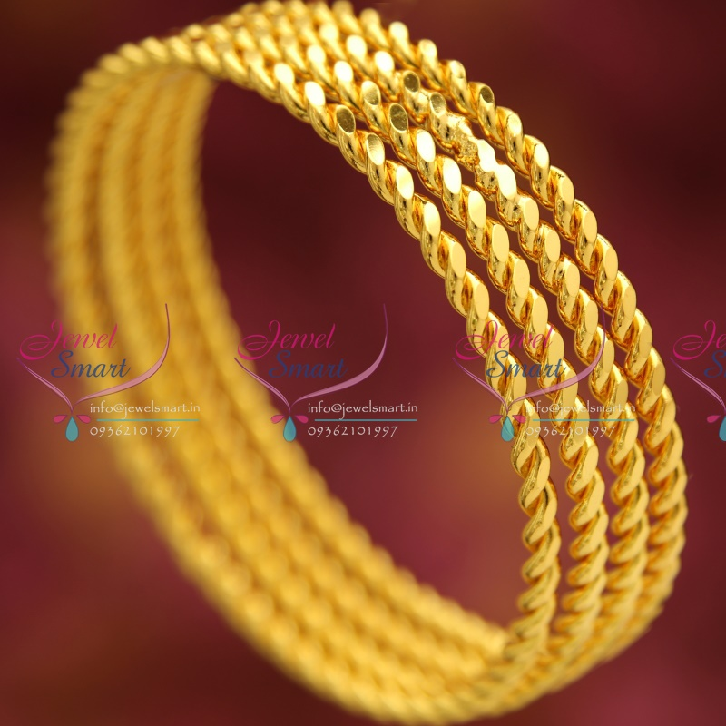 qg twisted bangles color gold tri bangle bracelet