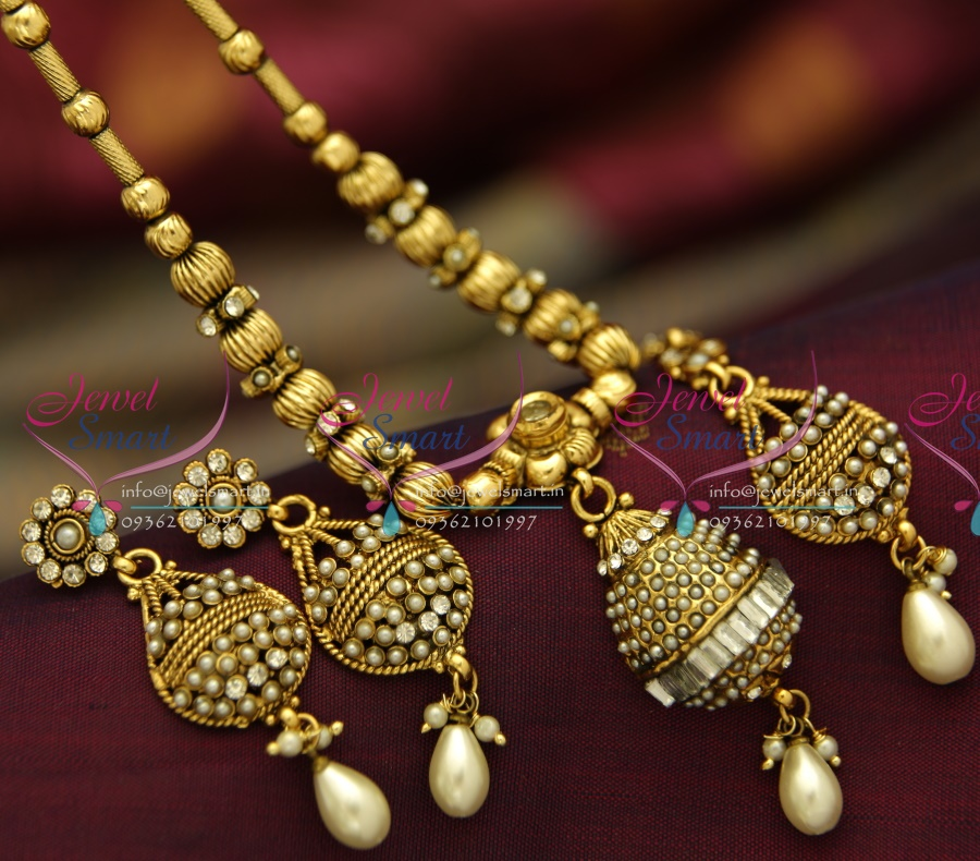 NL4023 Simple Antique Beaded Design Fancy Jewellery Set