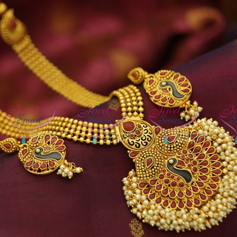 NL4039 Indian Traditional Haram Pearl Gold Imitation Artificial ...