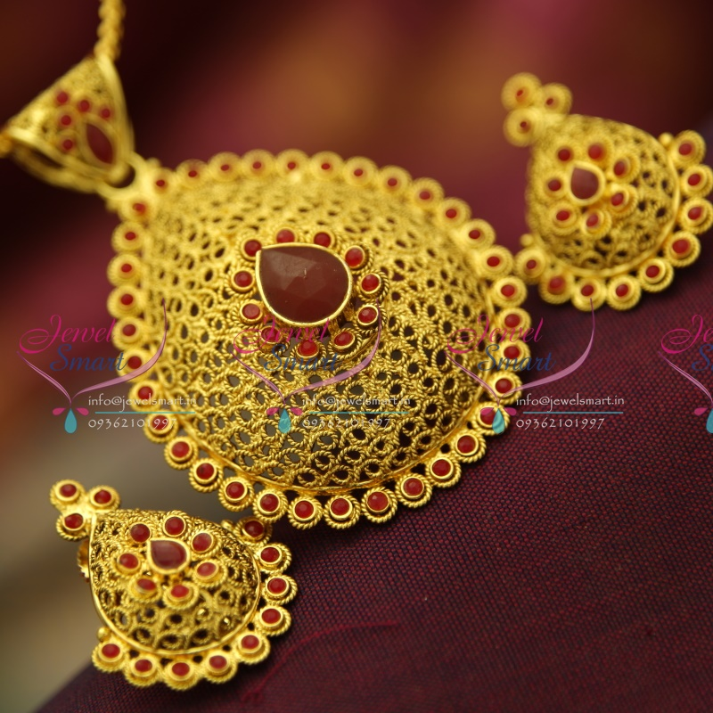 Ps4045 intricate work handmade delicate gold design pendant ps4045 intricate work handmade delicate gold design pendant jewellery set mozeypictures Choice Image