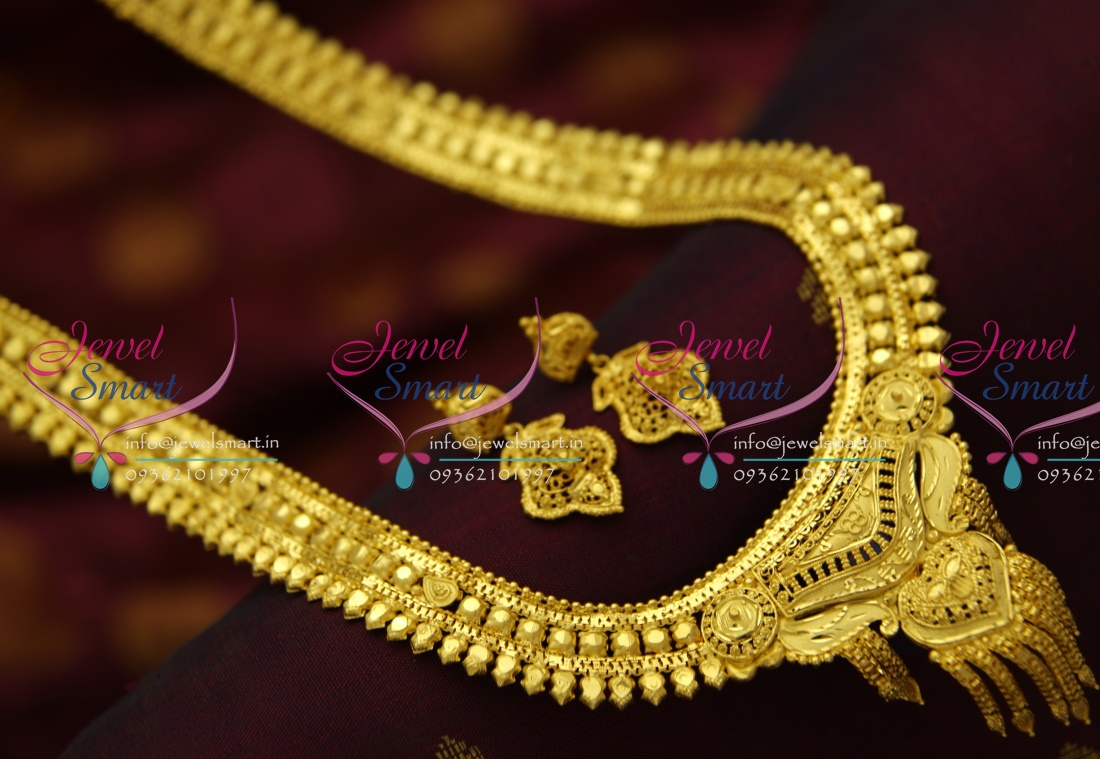 NL4171 Forming One Gram Handmade South Indian Traditional Haram ...